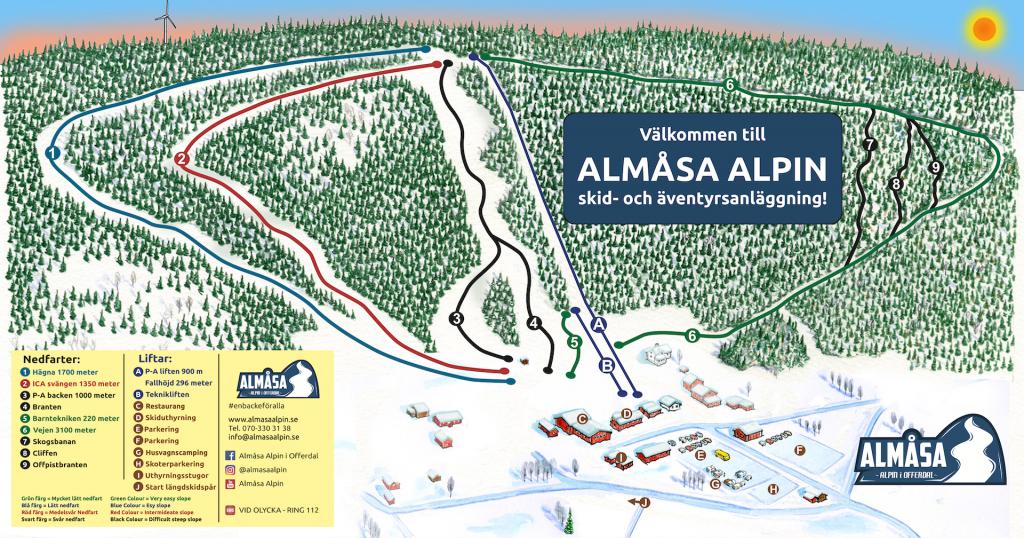 Almåsa Alpin info och karta