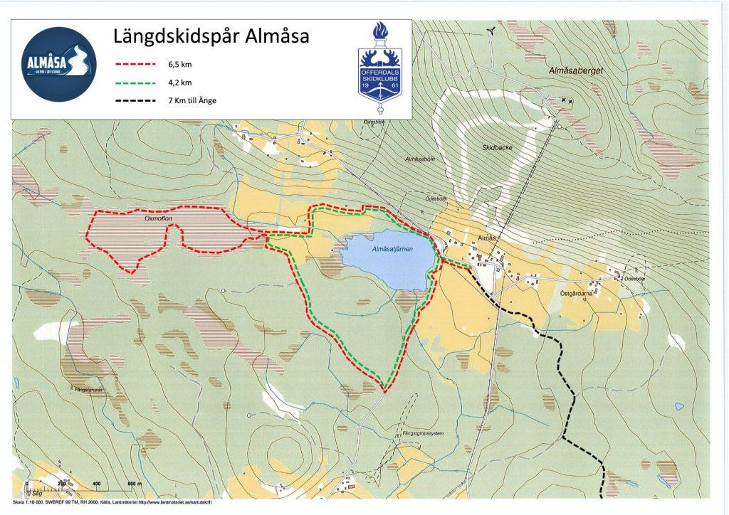 Längdskidspår Almåsa